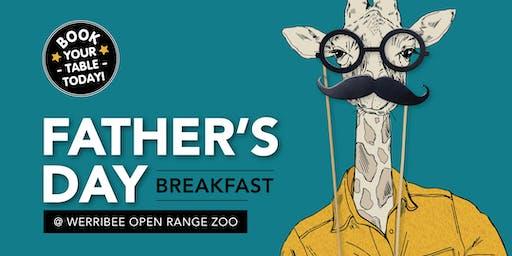 Father's Day Breakfast -  Werribee Zoo