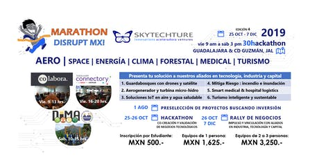 SkyTech 30Hackathon : AERO space energía clima forestal medical turismo boletos