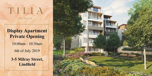Display Apartment Inspection 27 July 2019, 10:30 - 11:00am