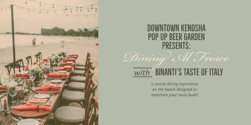5 Course Beach Dinner at the Downtown Kenosha Pop Up Beer Garden