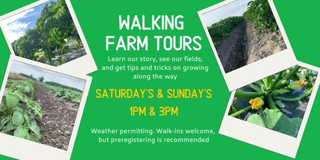 Walking Farm Tour - 3 pm tickets