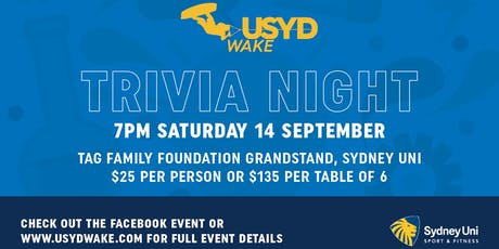 USYDWake Trivia Night 2019 tickets