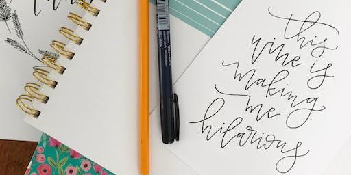 Sip & Scribble Hand Lettering Class