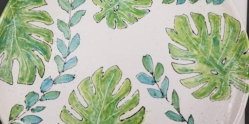 Botanical Leaf Platter