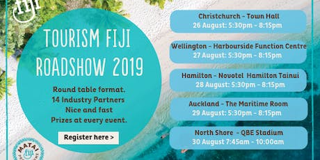 Tourism Fiji Roadshow 2019 tickets