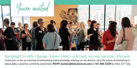 Keeping Up With Change: Know what's relevant, so you can stay relevant. tickets