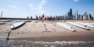#TrainersConnect at the beach with Chicago SUP &...