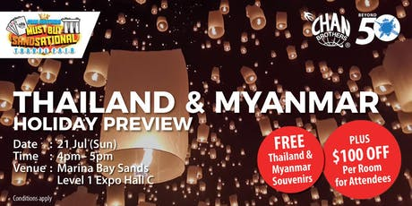 Thailand & Myanmar Holiday Preview  tickets