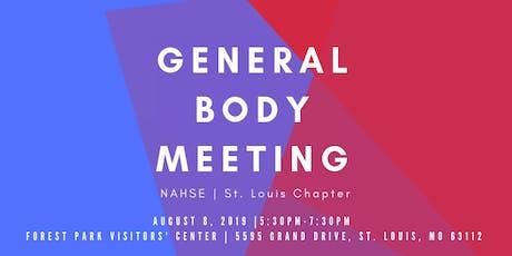 NAHSE St. Louis 3rd Quarter General Body Meeting  tickets