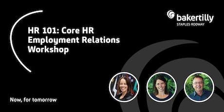 HR 101 - Core HR Employment Relations - Taranaki tickets