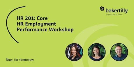 HR 201: Core HR Employment Performance Workshop - Taranaki tickets