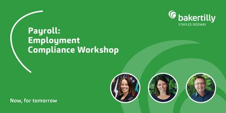 Payroll: Employment Compliance Workshop - Taranaki tickets