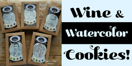Wine and Watercolor Cookie Painting  Fundraising E tickets