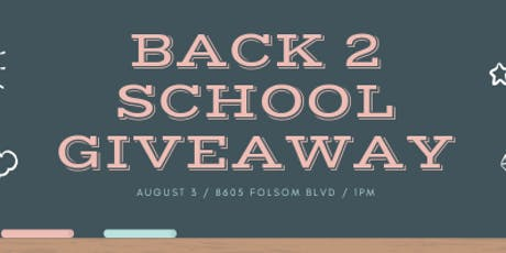 Back 2 School Giveaway! tickets