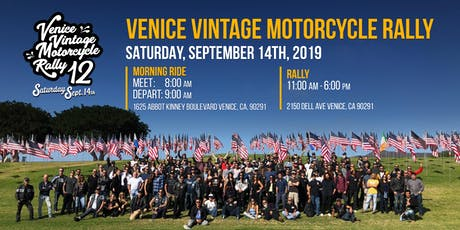VENICE VINTAGE MOTORCYCLE RALLY  - 2019 tickets