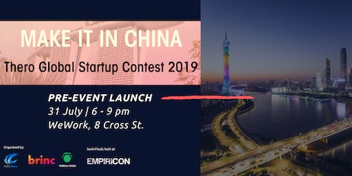 'Make It In China' Startup Contest - SG Pre Event Launch