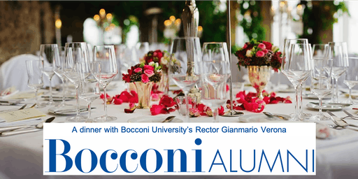 A dinner with Bocconi University's Rector Gianmario Verona