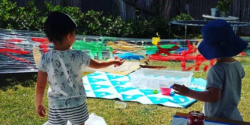 VALUE FOUR SESSION PASS: The Messy Paint & Play Playtime