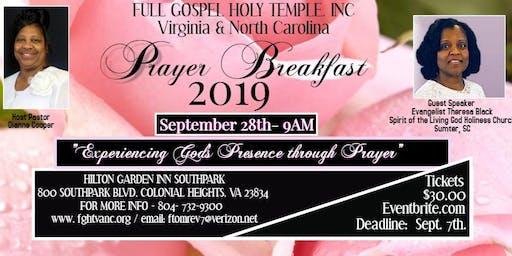 Full Gospel Holy Temple, VA & NC - Prayer Breakfast 2019