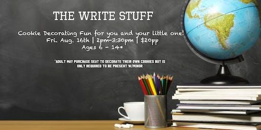 The Write Stuff - Big Kids Cookie Decorating fun