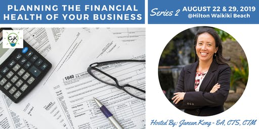 G2K Summer Series 2 - Planning the Financial Health of Your Business