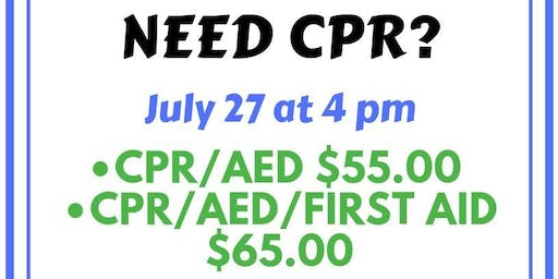 Pop Up CPR Class!