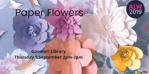 Paper Flowers at Goomeri - Adult Learners Week