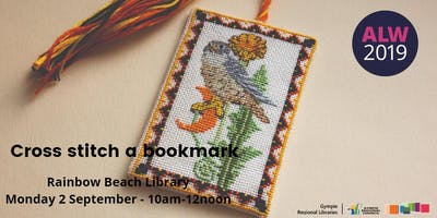 Cross Stitch a Bookmark at Rainbow Beach - ***** Learners Week