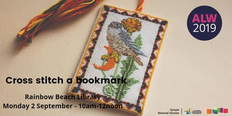 Cross Stitch a Bookmark at Rainbow Beach - Adult Learners Week tickets