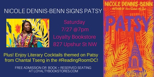 Nicole Dennis-Benn Signing and Themed Literary Cocktails for Patsy