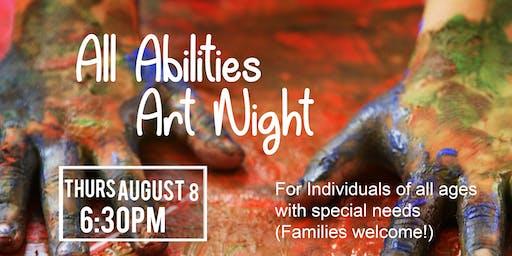 All Abilities Art Night