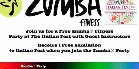 Free Zumba® Party at Italian Fest Racine, WI tickets