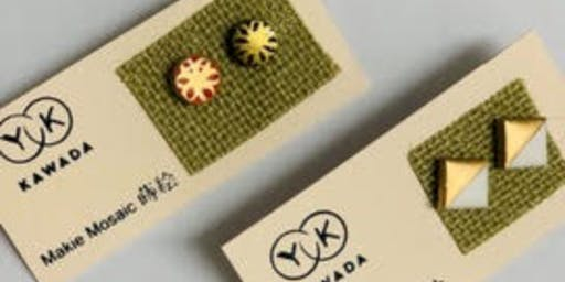 Makie Mosaic Earring Studs Workshop with Yoko Kawada Design