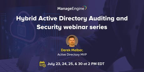 Hybrid Active Directory Auditing and Security webinar series tickets