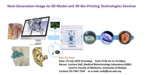 Next-Generation Image-to-3D Model and 3D Bio-Printing Technologies