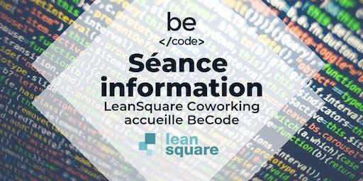 BeCode séance d'information LeanSquare