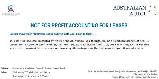 Not For Profit Accounting for Leases