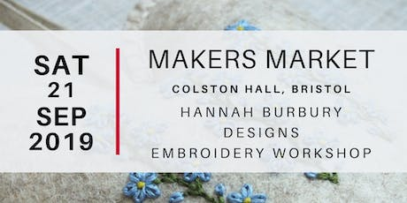 Makers Market - Hannah Burbury Designs Embroidery Workshop tickets