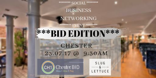 CH1BID Social networking @ Slug & Lettuce Chester