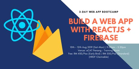 3-day Web App Bootcamp with ReactJS + Firebase tickets