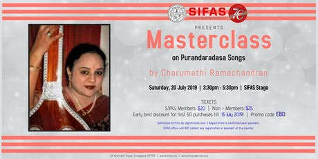 Masterclass on Purandaradasa Songs tickets