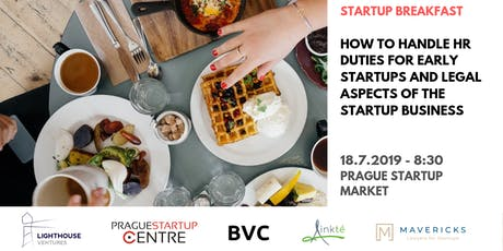 Startup Breakfast: How to handle HR duties for early startups and legal aspects of the startup business tickets