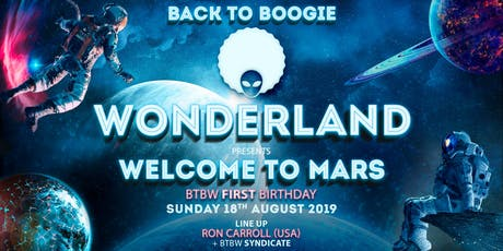 Back to Boogie wonderland, Welcome to Mars tickets