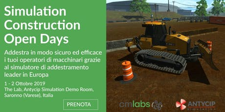 Simulation Construction Open Days Saronno tickets