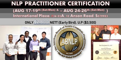 Triple NLP Certification in Singapore tickets