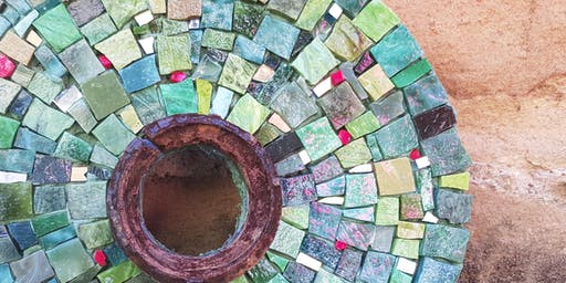 "Mosaic Class 3 hours BEGINNERS CLASS-""Lets Start at the Centre"""
