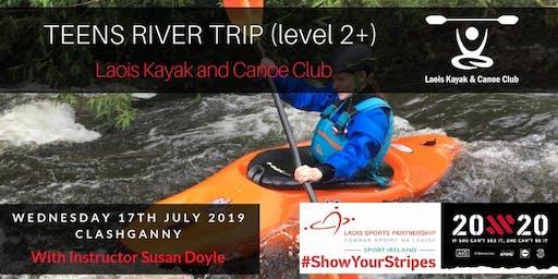 Female Teens Kayaking River Trip (level 2+)