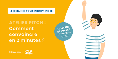 Atelier pitch : comment convaincre en 2 min ? tickets