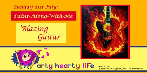 'Blazing Guitar' Paint-Along-With-Me @ YourSpace.Sutton