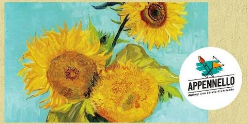 Girasoli e Van Gogh: aperitivo Appennello a Barchi (PU)